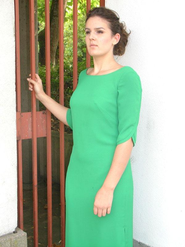 Apple Green Bateau Special Occasion Dress