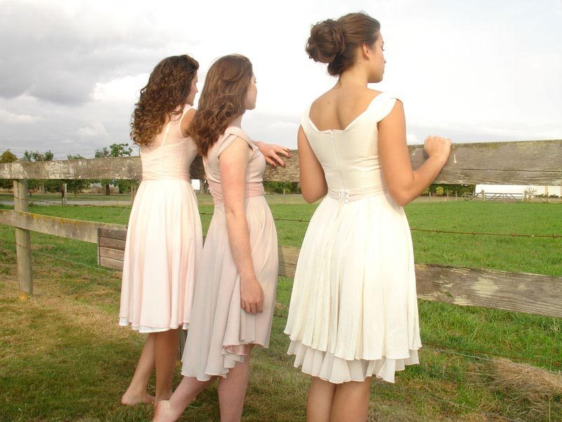 Dusty Pink Chiffon Bridesmaid Dresses
