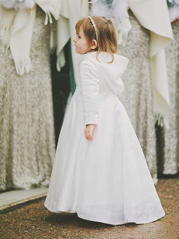 Full Silk Satin Flower Girl Hooded Cloak