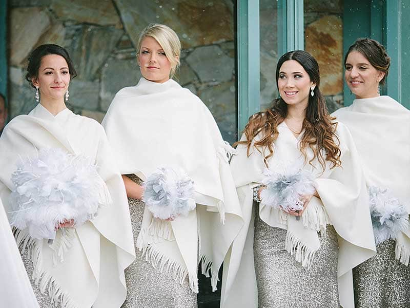 Off White Cashmere Bridesmaid Winter Shawls