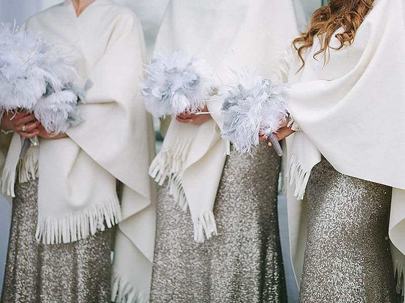 Off White Cashmere Bridesmaid Winter Wraps