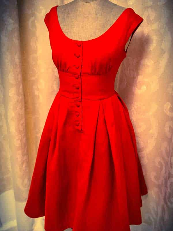 Red Retro Fit Flare Special Occasion Dress